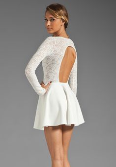 BOULEE Avery Dress in Off White