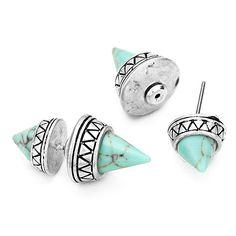 1804paris boucles d'oreilles tribales turquoise