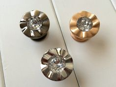 Dresser Knob Drawer Pulls Kitchen Cabinet Knobs Rhinestone Bronze Silver Gold #Unbranded