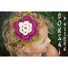Flower headband #crochet #flower
