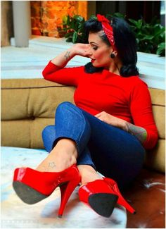 Rockin', Red, Rockabilly! :: Retro Style:: Rockabilly Girl:: Rockabilly Fashion
