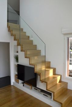 Modern Staircase Design Ideas - Stairs are so usual that you do not provide a second thought. Check out best 10 instances of modern staircase that are as sensational as they are . Space Under Stairs, Loft Stairs, House Stairs, Staircase Storage, Stair Storage, Closet Storage, Escalier Design, Modern Stairs, Staircase Design Modern