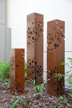 Sculptures - 'Summer Branch' light towers create a sculptural night show when base lit.