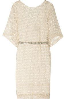 By Malene Birger Nirmala open-knit cotton dress | NET-A-PORTER