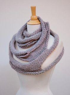 pearl gray loop scarf | Craftsy