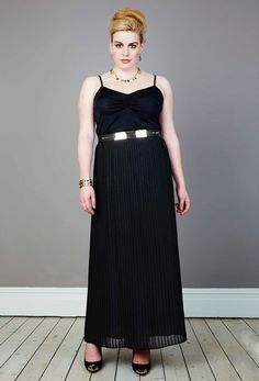 Cant wait to wear this Georgette Pleat Maxi Skirt - anna scholz Plus Size