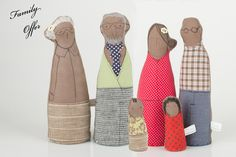 Valentine lovers  - african Grandpa and Grandma Dressed in Green jacket, Jens pants ,linen skirt  glasses and tie  -handmade fabric doll. $70.00, via Etsy.