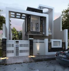 These are top modern villa exterior design that will inspire you to make your own. Bungalow House Design, House Front Design, Modern House Design, Architecture Magazines, Modern Architecture, Amazing Architecture, Modern Exterior, Exterior Design, Wall Exterior