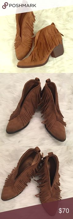 COCONUTS by Matisse fringe ankle boots Never worn New without box. Never worn. Unfortunately too big for me. My loss. Your gain. 💃🏼   Fringe ankle booties Coconuts by Matisse.   I bought a smaller size and get sooooo many compliments on them. 🛍💗 Matisse Shoes Ankle Boots & Booties