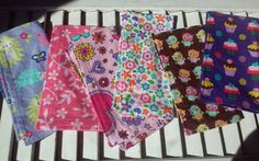 "Set of 6 8"" Children's Cloth Napkins Girls Mixed Print Lunchbox/Luncheon Napkins Set 1"