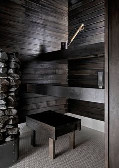 Inside A House, House In The Woods, Spa Rooms, House Rooms, Sauna Design, Finnish Sauna, Beach Cottage Style, Saunas, Gray Interior