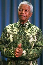 Nelson Mandela often wear Indonesian batik in official events, even during his visit to Indonesia in 1997. Until now, Nelson Mandela often using batik, designed by Indonesian designer named Iwan Tirta.