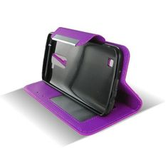 LG K7 Tribute 5 Purple Flip Leather Case