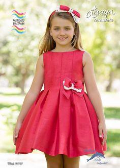 Vestido de ceremonia ARTESANIA AMAYA seda modelo 97727