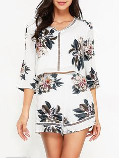 Women Sexy Hollowed Out Bohemian Printed SuitsWomen Sexy Hollowed Out Bohemian Printed Suits