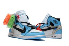 brand new 7f1a0 272d0 Off White x Air Jordan 1 UNC White University Blue - Cheap Nike Off White  Shoes