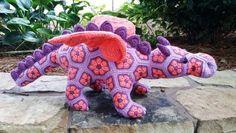 Free Knitted Crochet African Flower Pattern Dragon - Crochet Craft, Crochet Animal - crochet by craftcreep