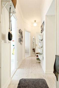 Functional entry/hallway. #stockholm #apartment