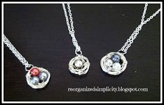 Reorganized Simplicity: Friend Ministry: DIY Bird's Nest Necklaces
