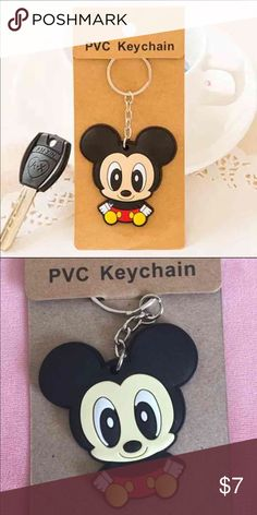 Mickey Mouse keychain One Mickey Mouse keychain included only. Please see the second picture for the actual product you will receive. Thanks!                                                                 Bundle price: 2 for $12 Accessories Key & Card Holders