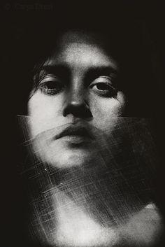 Split 2 - Fine Art Surreal Photo Print Girl behind broken scratched plastic Face Black & White Portrait Shadow Dark Art Photography Decor Dark Art Photography, Artistic Photography, Creative Photography, Black And White Photography, Portrait Photography, Photography Lighting, Professional Photography, Fashion Photography, Photography Women