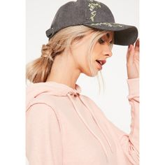 f56f9269b9e Missguided Floral Blossom Embroidered Cap ( 18) ❤ liked on Polyvore  featuring accessories