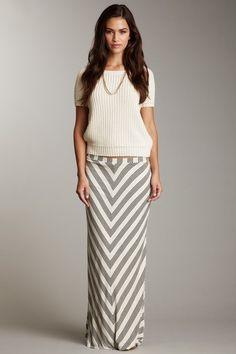 Ella Moss stripe maxi skirt