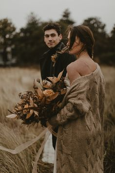 This Moody Maine Coast Wedding Inspiration is Deliciously Cozy in Warm Neutral Tones Funny Wedding Photos, Wedding Pics, Wedding Couples, Wedding Posing, Wedding Shot, Fall Wedding Dresses, Elope Wedding, Dream Wedding, Elopement Wedding