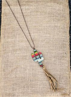 NEW ARRIVAL!!! Serape Cactus Tassel Necklace $28.50 PLUS 10% off with code KELSEY10