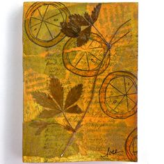"""""""Synergy"""" - An Herbal Inspired Mixed Media Mini Journal"""