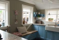 Landelijke blauwe keuken - WJ Oude Bouwmaterialen