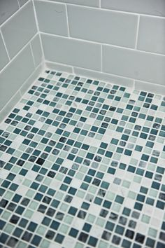 Tile work a shower in one of our client's home.