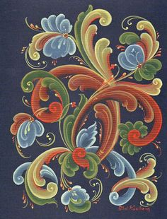 Rosemaling Inspired ink perhaps?