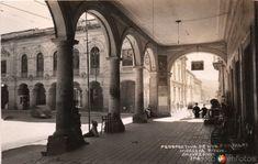 Fotos de Morelia, Michoacán, México: los Portales hacia 1945