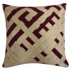 """Nate Berkus™ Woven Pillow  - Ox Blood (18x18"""") #targetawesomeshop"""
