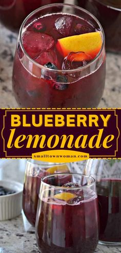The perfect summer drink! This Blueberry Lemonade recipe is here for your entertaining needs. With just 4 ingredients, you can have the most refreshing non-alcoholic drink for a party. So easy! Fun Drinks Alcohol, Fun Cocktails, Non Alcoholic Drinks, Summer Drinks, Beverages, Summer Food, Easy Drink Recipes, Coffee Recipes, Vegan Recipes Easy