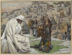 James Tissot (French, 1836-1902). Jesus Wept (Jésus pleura), 1886-1896. Opaque watercolor over graphite on gray wove paper, Image: 6 3/4 x 8 15/16 in. (17.1 x 22.7 cm). Brooklyn Museum, Purchased by public subscription, 00.159.182 (Photo: Brooklyn Museum, 00.159.182_PS2.jpg)
