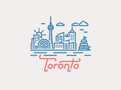 Toronto Illustration by Kevin Moran, via Behance