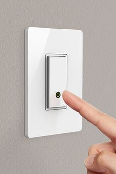 Belkin WeMo Light Switch $49.99 at Belkin.com  Install the easy-to-DIY switch, download the free app on your Android or iPhone, and schedule when your house becomes an illuminated haven. You can even set the device to sync to your local time zone so that the lights automatically adjust to the sunrise and sunset while you go about your day.