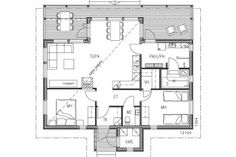 Ankkuri pohjakuva Floor Plans, Floor Plan Drawing, House Floor Plans