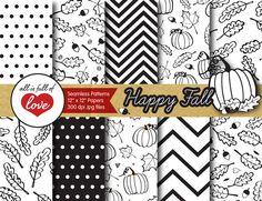 Fall Background Illustration Pattern  @creativework247