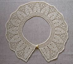 NEW Crochet collar Peter Pan collar Blue crochet by VerLenCrochet