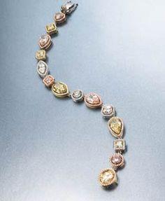 Natural Fancy Colored Diamonds bracelet by Christian Tse