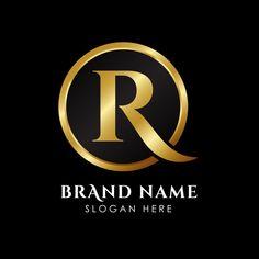 Modelo de logotipo de letra r luxo na co. S Logo Design, Luxury Logo Design, Real Estate Logo Design, Lettering Design, Graphic Design, Royal Logo, Photography Logo Design, Name Logo, Letter Logo