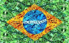 Bandeira so Brasil com fitinhas do Senhor do Bonfim