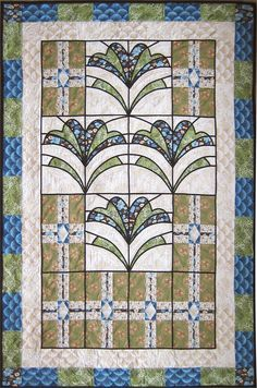 """Modern Mission quilt, 46 x 71"""", pattern by Barbara Campbell 