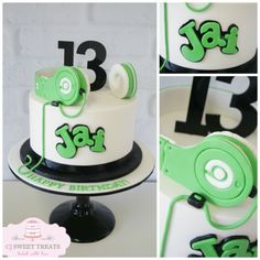 For a 13 year who is very much into his music featuring hand made sugar headphones!