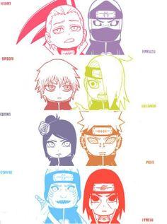 Chibi Akatsuki together Naruto Kakashi, Gaara, Anime Naruto, Naruto Akatsuki Funny, Deidara Akatsuki, Naruto Teams, Naruto Cute, Naruto Shippuden Sasuke, Otaku Anime