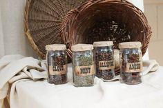small seed jars
