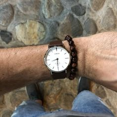 The is part of our Modern and Minimalist VERST Collection Series - equipped with a Swiss Made Mov't, Sapphire Crystal, Italian Leather and Quick Release Straps Tropea Italy, Handmade Bracelets, Handmade Jewelry, Modern Minimalist, Dapper, Beaded Jewelry, Watches For Men, Modern Design, Gemstone